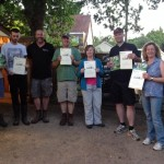 Merrist Wood College with their certificates of achievement and new Smallholders book