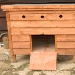 small wooden hen house